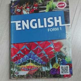 English textbook KSSM form 1