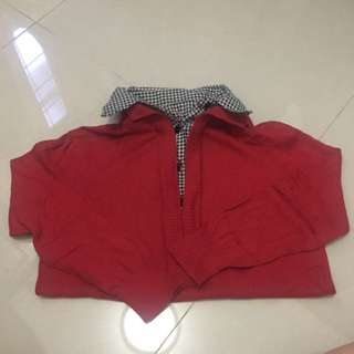 No Brand Red Knitting Blouse