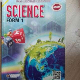 Science textbook KSSM form1