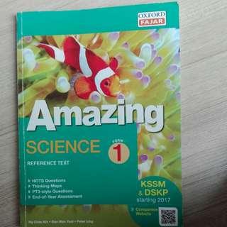 Science reference book KSSM form 1