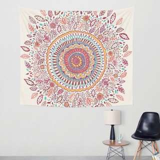 Flower Mandala Tapestry