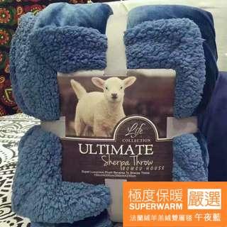 法蘭絨羊羔絨雙層加厚毛毯 高質感素色系列 冬季保暖必備 法蘭絨 / 珊瑚絨 /  搖粒絨;果果居家
