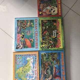 Kids puzzle books for learning- whole set 5 books