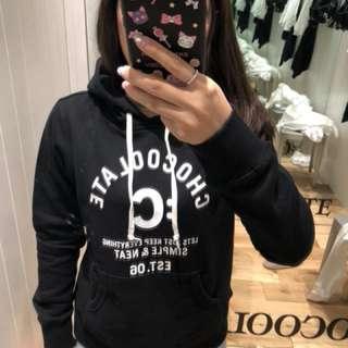全新正品 Chocoolate 黑色連帽衛衣M碼