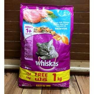 Whiskas Ocean Fish Cat Food 7 kilograms + 1 kilogram FREE