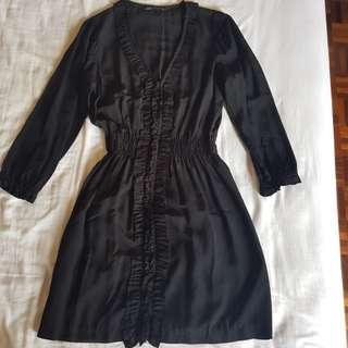 Zara Black Dress Size L