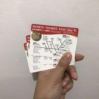 (3pcs) Hankyu 1-day Tourist Pass
