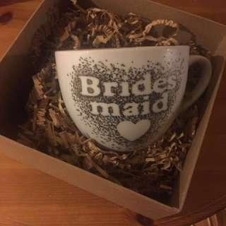 Bridesmaid mugs #wedding