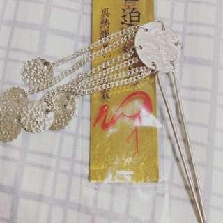 🚚 純銀兒童髮簪,純銀