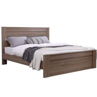 Wooden finished queen bed frame