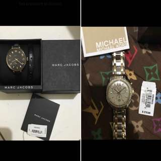 MARC JACOBS AND MK WATCH COMBO