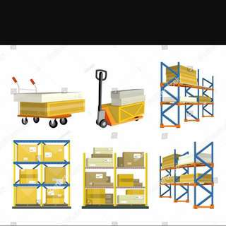 Large storage warehouse, lorry and forklift rentals with experience drivers and supervisors!