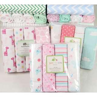 Baby  Unisex Muslin Blanket Swaddle Cotton Comfty Wrap x 4 pcs