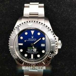 Rolex 116660 DEEPBLUE  行貨888 全套齊 97% 2015年錶