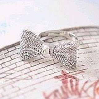 Cute Silver Bow Ring