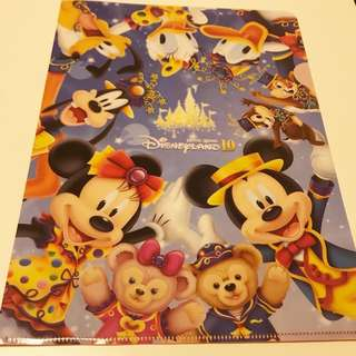 🈹香港迪士尼10週年A4 file / 10th Anniversary A4 file from Hong Kong Disneyland