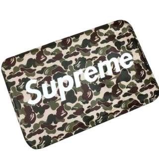 Supreme x BAPE (Bathing Ape) Camouflage floor mat