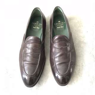 36f92aa2625 Carmina - Classic full strap penny loafers - Brown Lama calf. Featuring a  single leather