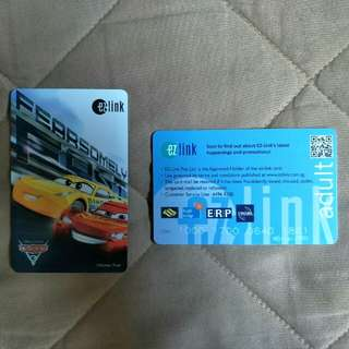 Cars Limited Edition Ezlink Card
