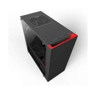 NZXT S340 Elite (Tempered Glass) Matte Black Red