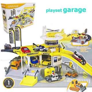 Construction Parking Garage Playset