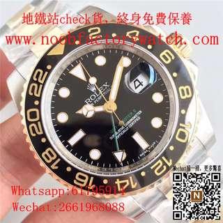 腕錶之家 面交睇貨 Rolex GMT Master II 116713 116713LN 金鋼綠針 40mm