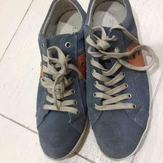 dune blue mens shoe