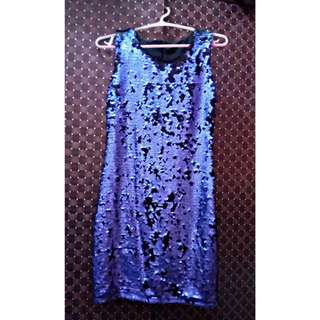 Sequence Black-Purple dress.