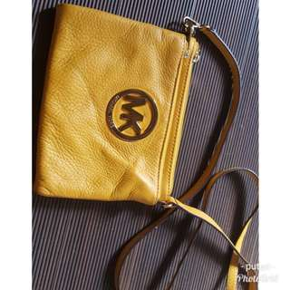 Michael Kors  leather double zip crossbody
