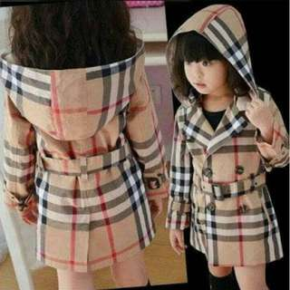 Jaket Coat Burbberryy kids/baju anak murah/coat anak murah/jaket anak murah
