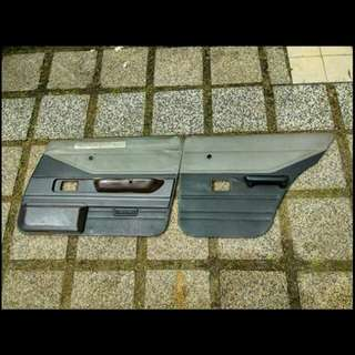 Original JDM AE70 interior door panel and handbrake console