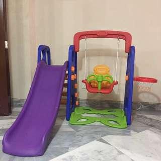 Slide, Swing and Basketball playset