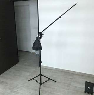 Light Stand with Boom Arm