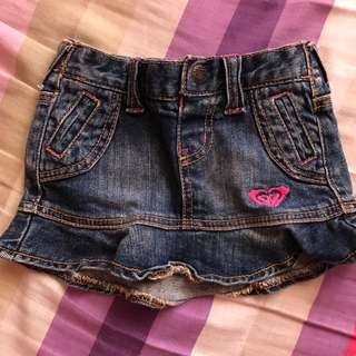 Roxy Twinie Mini Skirt Jeans