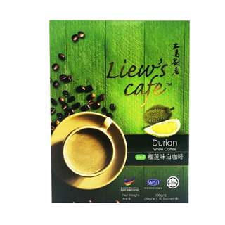 Liew's Cafe 4 in 1 Durian White Coffee / Halal Products