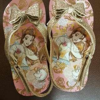 Disney original sandals for kids (princess edition) size 9