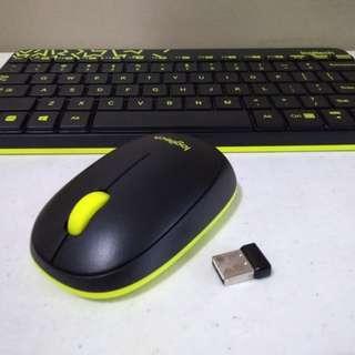 Logitech Nano wireless keyboard + mouse