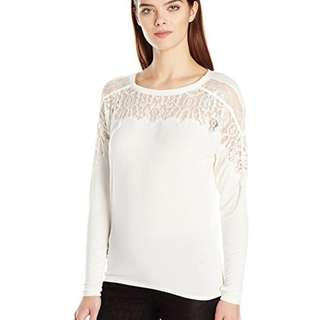 Guess Caroline Lace White Top