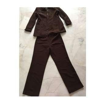 Suit blazer coklat