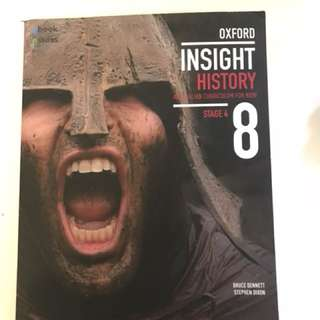 oxford insight history stage 4 year 8 text book