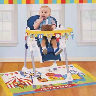 (NEW) 1st birthday high chair decoration / Banner