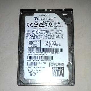 Hitachi 40GB 2.5 inch SATA Hard Drive