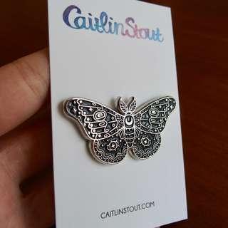 Caitlin Stout Moon Moth Enamel Pin