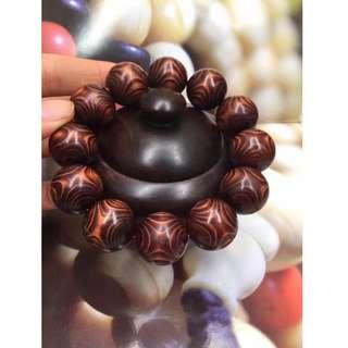 印度紫花梨 紅木 佛珠 手串 念珠