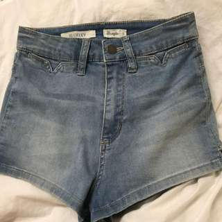 Wrangler Hi Cheeky Denim Shorts