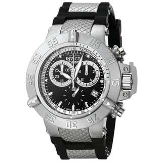 Invicta 5511 Mens Subaqua Quartz Chronograph Black Dial Watch
