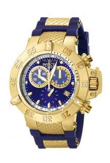 Mens 5515 Invicta Subaqua Noma Iii Gold Plated Blue Chronograph