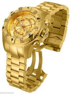 Invicta 14473 Mens Excursion Quartz 3 Hand Gold Dial Watch