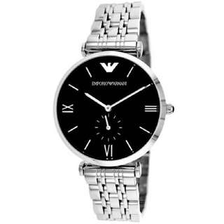Emporio Armani Retro Sub-Seconds Stainless Steel Mens AR1676