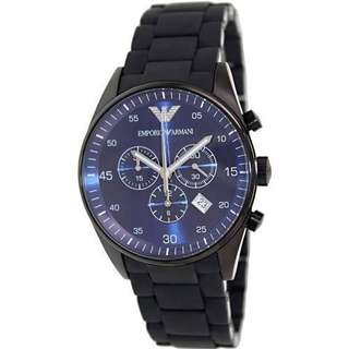 Emporio Armani Mens AR5921 Classic Chronograph Black